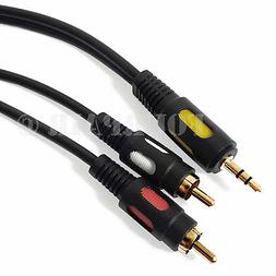 6ft Premium  3.5mm AUX Stereo to 2 RCA Male Audio Y Cable Co