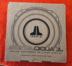 "JL AUDIO 10TW3-D4 DUAL 4 OHM 10"" SHALLOW SLIM MOUNT THIN SUB"