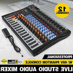120S-USB 12 Channel Live Studio Audio Mixer Mixing Console P