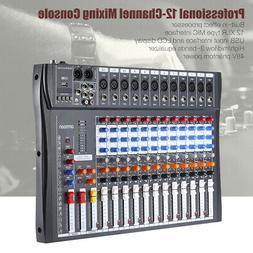 Professional 12 Channels Line Live Mixing Studio Audio Sound