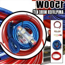 1500W Car Audio Amplifier Wiring Fuse Kit Subwoofer AMP RCA
