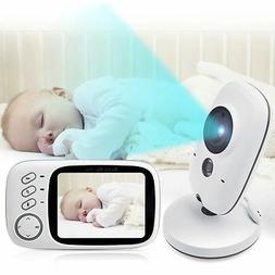 "2-Way Talk 3.2"" Digital Wireless Baby Monitor Night Vision V"
