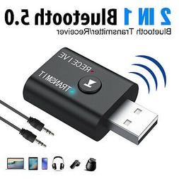 2in1 USB Bluetooth 5.0 Audio Transmitter Receiver Adapter Fo