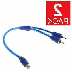 2-Pack RCA Audio Jack Cable Y Adapter Splitter 1 Female to 2