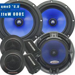 Pairs 65C 2000W 6.5-Inch 2-Way Car Audio Component Speaker