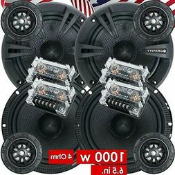Pairs Gravity 600C 6.5-Inch 2-Way Car Audio Component Speak