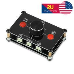 2-Way 3.5mm AUX Audio Switcher Passive Selector Distributes
