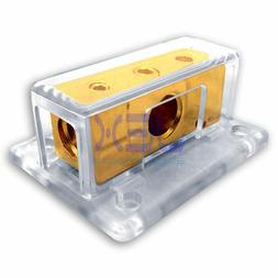 2-Way Car Audio Solar Amp Power/Ground Cable Splitter Distri