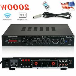 5Ch 2000W 110V bluetooth Home Stereo Power Amplifier Receive