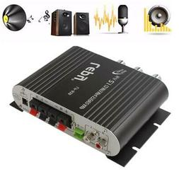 200W Mini Hi-Fi 2.1 Amplifier Amp Booster Radio MP3 Stereo A