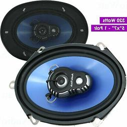 "2x Audio Tech AT- 57.2 Powerful Woofer  5""x7"" 320 Watts Car"