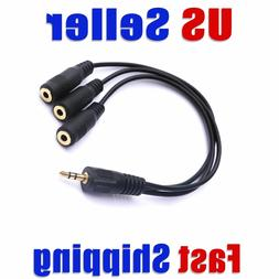 3.5mm  TRS 3 Way Splitter Stereo Headphone Stereo Audio  USA