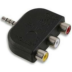 3.5mm 4 Pole Male Jack to 3 RCA Audio/Video Adapter – Camc