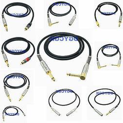 "3.5mm 6.35mm 1/4"" RCA TV plug jack mono TS 10-35FT Unbalance"