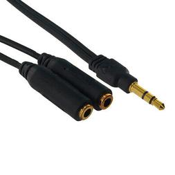 3.5mm Audio Y Splitter Cable Cord Plug for Speaker Headphone