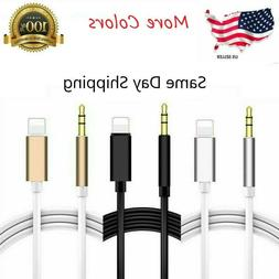 3.5mm AUX Audio Music Cable Car Cord for iPhone 7 8 Plus X X