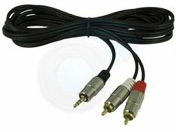 3.5mm Male Plug to 2 RCA Male Stereo Audio AV Cable Adapter