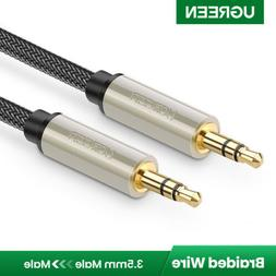 UGREEN 3.5mm Male to Male Auxiliary Aux Stereo HiFi Cable Br