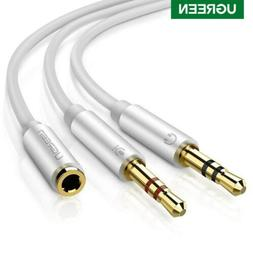 UGREEN 3.5mm Mic Audio Cable 1 Female to 2 Male Headphone AU