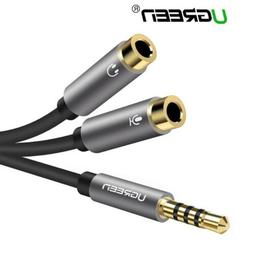 Ugreen 3.5mm Splitter Male 1 To 2 Female Y Adapter Cable For