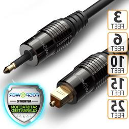 FosPower 3 6 10 FT Toslink to Mini SPDIF Fiber Optic Digital