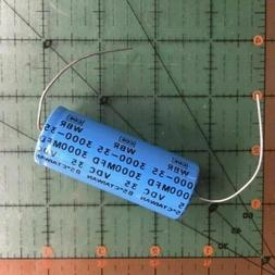 3000uF 35v Cornell Dubilier Axial Lytic Capacitor WBR3000-35