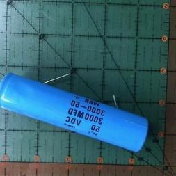 3000uF 50v Cornell Dubilier Axial Capacitor WBR3000-50 Audio