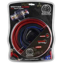 4 Gauge Red Bullz Audio Car Amplifier Amp Installation Power