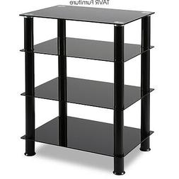 4-Tiers Media TV Stand Audio Video Tower for TV/Xbox/Gaming
