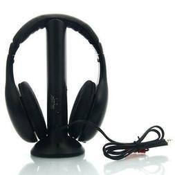 5 in 1 Hi-Fi Wireless Headset Headphone +Transmitter + Audio