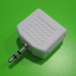 2.5mm to 2-3.5 STEREO JACK HEADPHONE SPLITTER Y ADAPTER AUDI