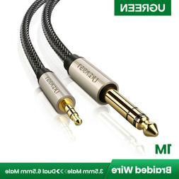 """UGREEN 3.5mm 1/8"""" Male to 6.35mm 1/4"""" Male TRS Stereo Audio"""