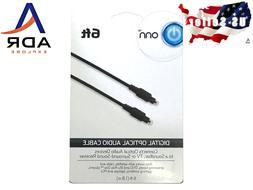 6' Digital optical audio cable. Soundbars, TV, surround soun