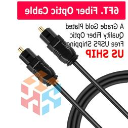 6 ft digital fiber optic audio cable