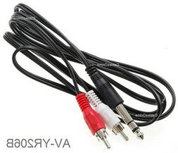 """6ft 1/4"""" TRS Stereo Male to 2-RCA  Male Audio Cable, AV-YR20"""