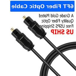 6FT Digital Fiber Optic Audio Cable Cord Optical SPDIF TosLi