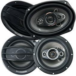 """Audiobank 6x9"""" 1000W 4-Way + 6.5"""" 600W 3-Way Car Audio Stere"""