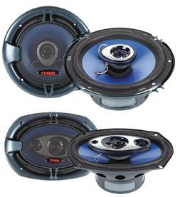 """Audiobank 6x9"""" 700W 3-Way + 6.5"""" 400W 4-Way Car Audio Stereo"""