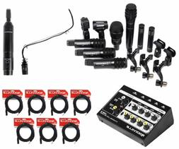 Audio Technica  Drum Microphone Kit+Choir Mic+Mixer For Chur
