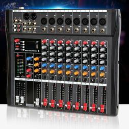 8 Channel Professional bluetooth Live Studio Audio Mixers po