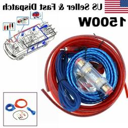 USA 8 Gauge Car Audio Cable Wiring Kit AMP Amplifier Install