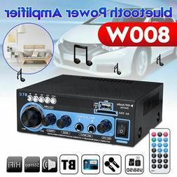 800W Digital Power Amplifier bluetooth 2-Channel Stereo Audi