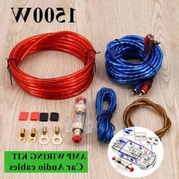 1500W 8Gauge Cable Car Audio Kit Amp Amplifier Install RCA S