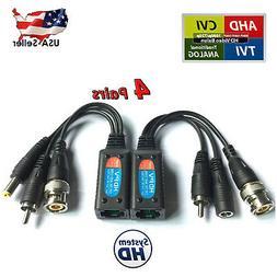 8MP CCTV Camera Passive Power Video Audio Balun PTZ Data via