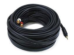Monoprice 105603 50-Feet Premium Stereo Male to 2RCA Male 22