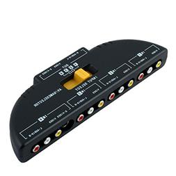 Mosuch 4-Way Audio Video AV RCA Switch Game Selector Box Spl