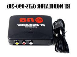 RF Modulator TV Switch Audio Video RCA Ant Input to F Type C