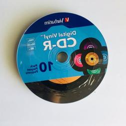Verbatim CD-R 80min 52X with Digital Vinyl Surface - 10pk Sl