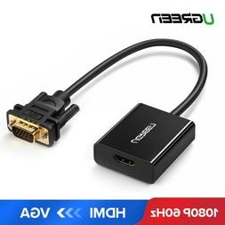 Ugreen Active HDMI to VGA Adapter with 3.5mm Audio Jack for