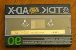 TDK * AD-X 90 * IEC TYPE I * Normal * Blank Audio Cassette T